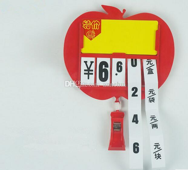 Hot sale Supermarket price tag board pop sign clip holder seafood vegetable fruit advertising frame tag display
