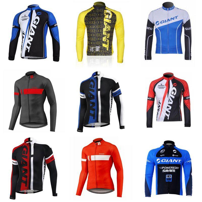 b23d3d27a GIANT Team Cycling Long Sleeves Jersey Men s Shirts Bicycle Cycling  Clothing Mountain Bike Wear Outdoor Sportswear D708 GIANT Cycling Jersey  Cycling ...