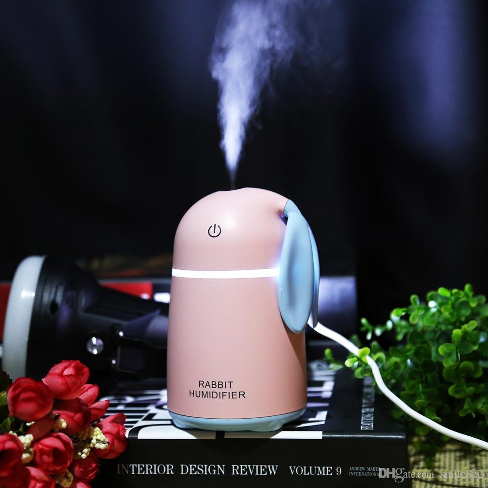 Cute Strawberry Humidifier Mini Usb Diffuser 180ml Big Fog Household Air Humidifier Colorful Light Desktop Purifier Fogger Home Appliances