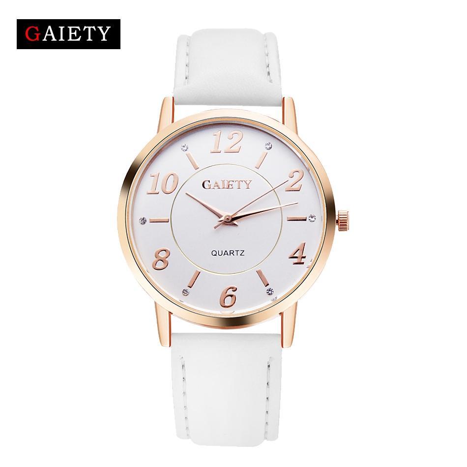 4343e0696d07 Compre Nuevo Diseño De Moda Para Mujer Relojes De Vestir GAIETY Elegantes  Señoras Reloj De Cuarzo Correa De Cuero Mujer Reloj Montre Femme Sport Reloj  A ...