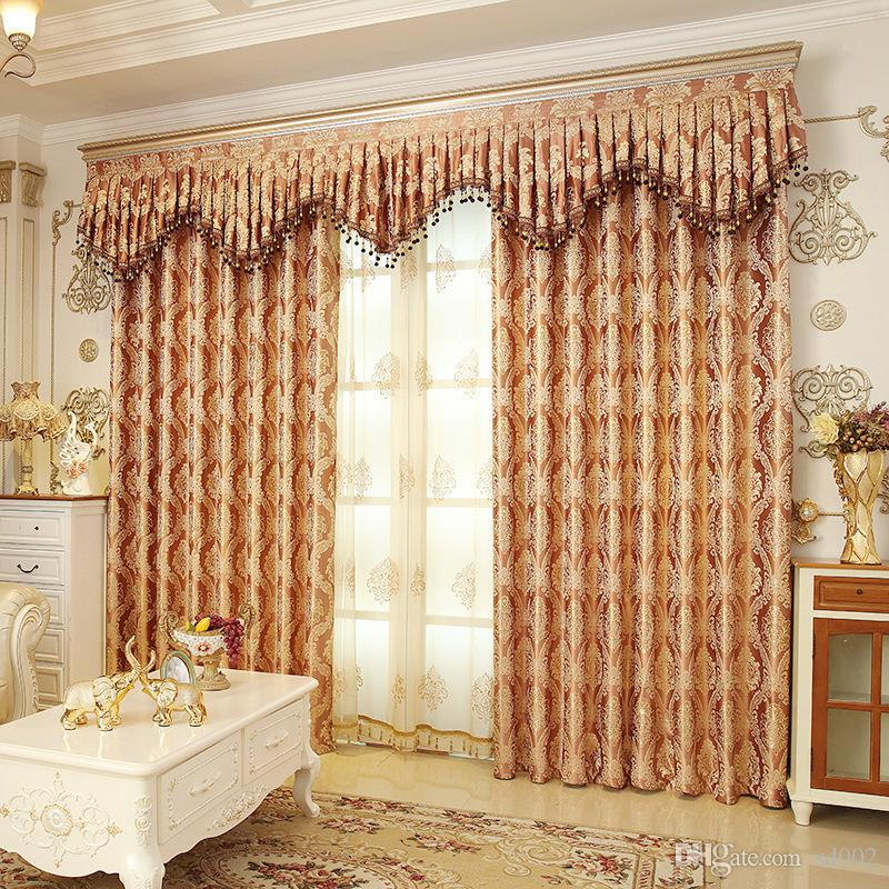 2019 Romantic Royal Luxury Window Curtains Bedroom Living Room