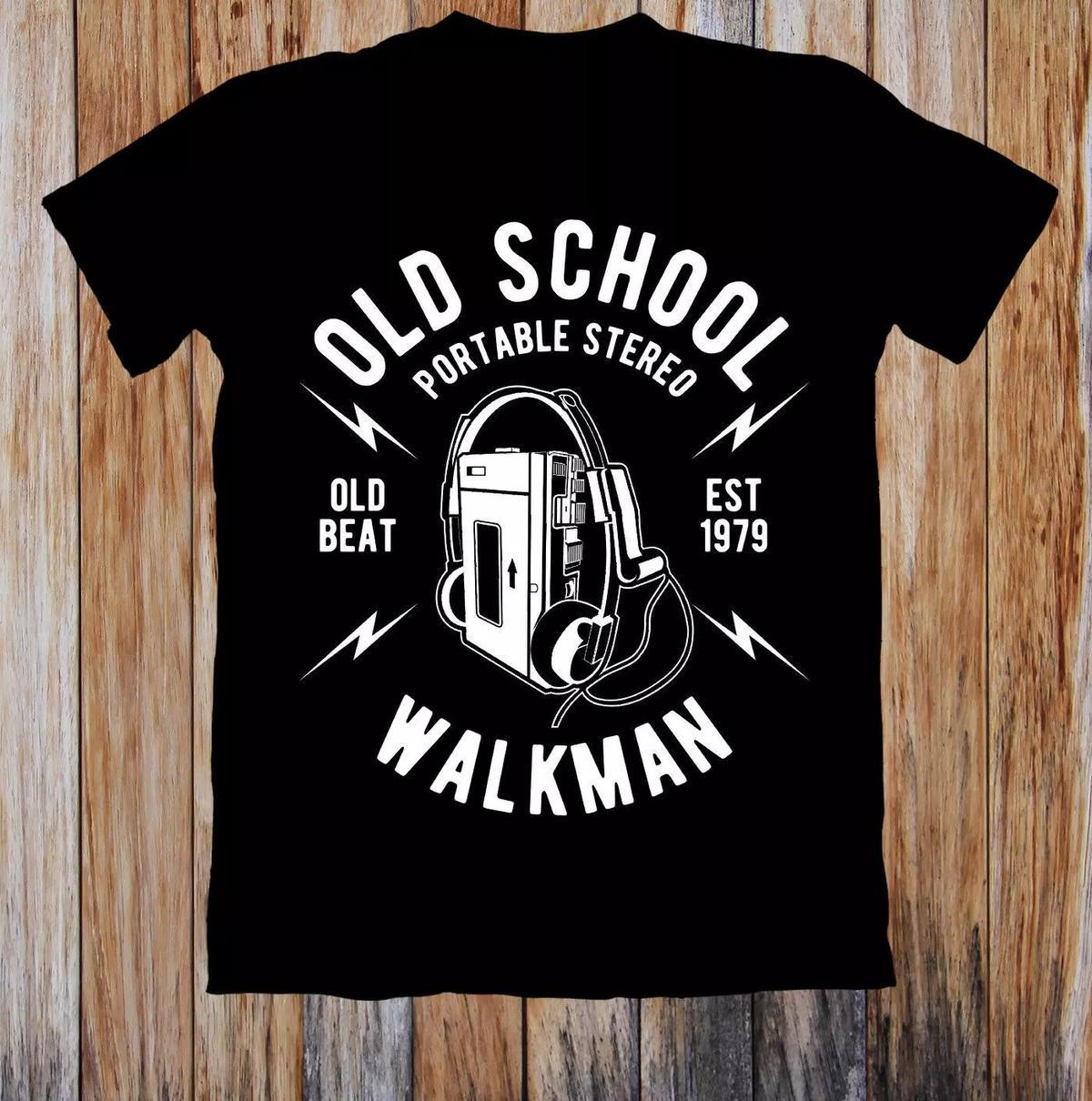 Old School Walkman Retro Unisex T Shirt Print T Shirt Men Summer