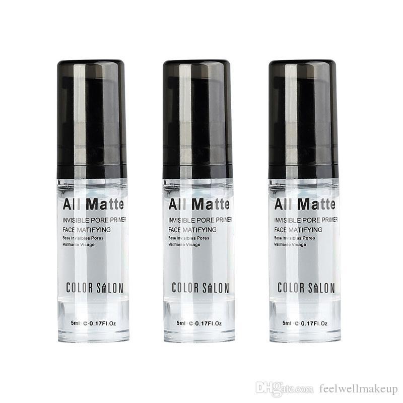 Color Salon Base facial Primer maquillaje Maquillaje Duradero Maquillaje facial natural poro Piel invisible Control de aceite Crema Cosmética