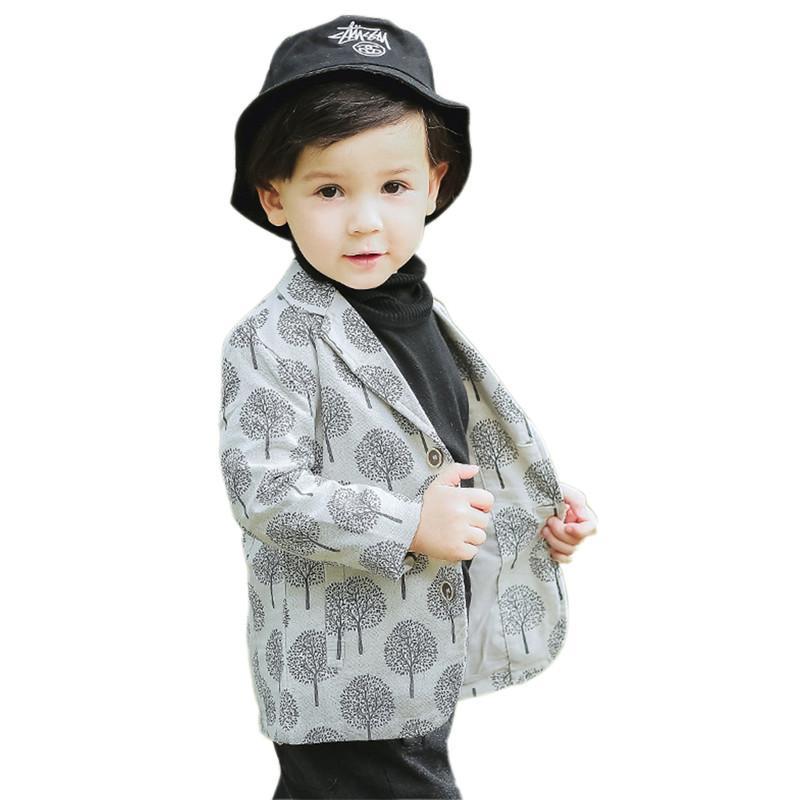 best loved 400b6 29cd6 giacca ragazzo retrò cappotto elegante giacca stile puntino gentiluomo per  1-6years ragazzi bambini capretti capispalla per bambini