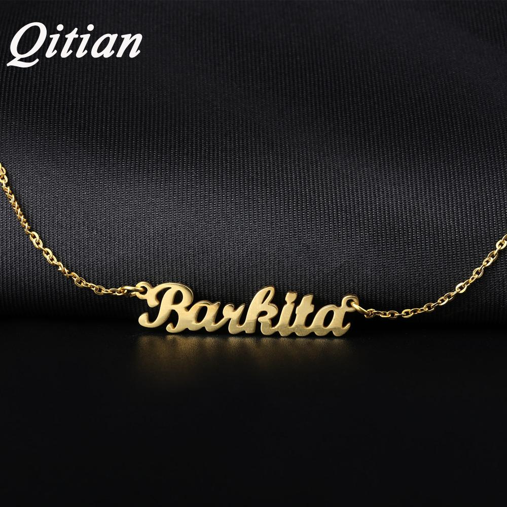 2019 Name Necklace Gold Color Stainless Steel Personalized