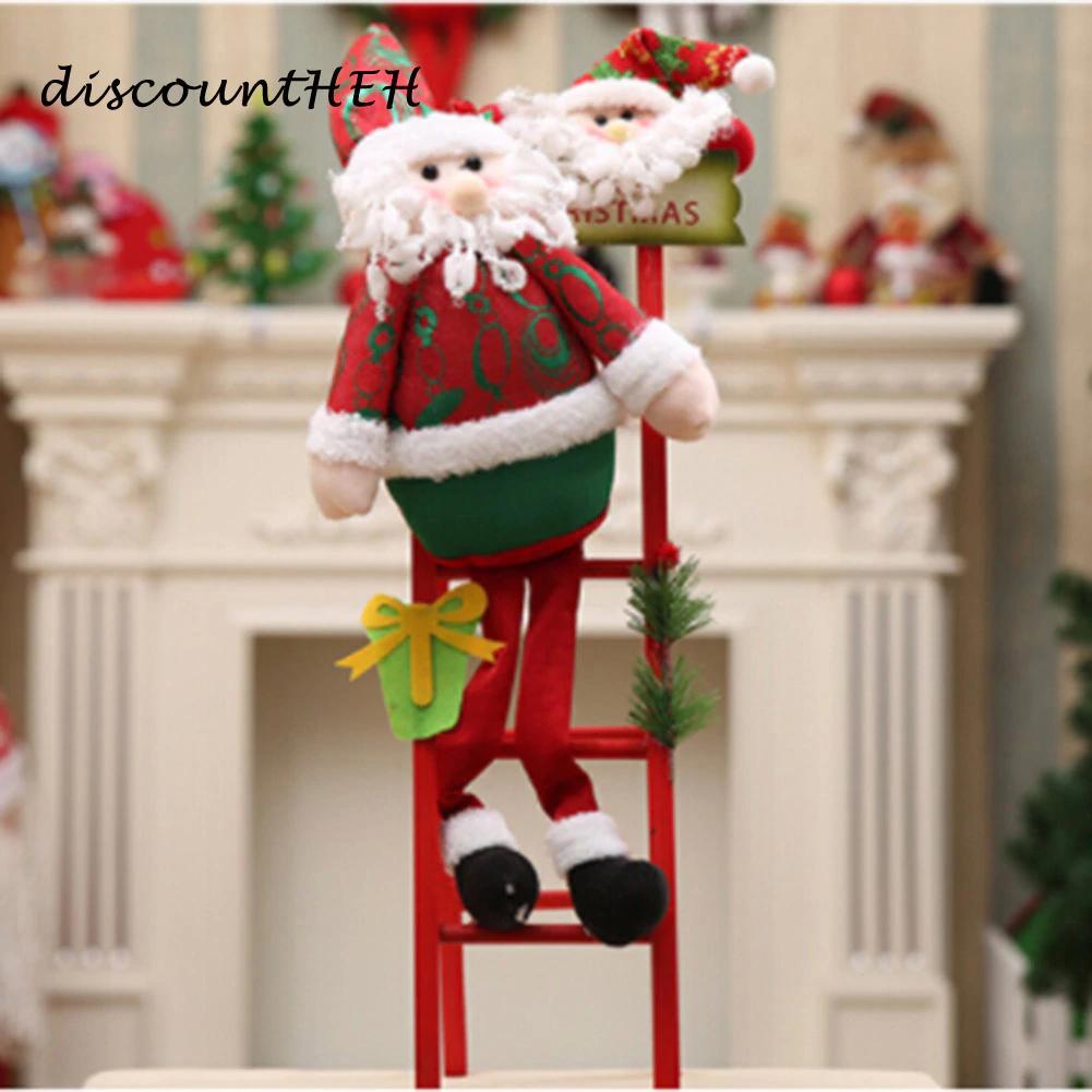 Buon Natale Ornament.Buon Natale Babbo Natale Climb The Ladder Ornament Albero Di Natale Decorazione Capodanno