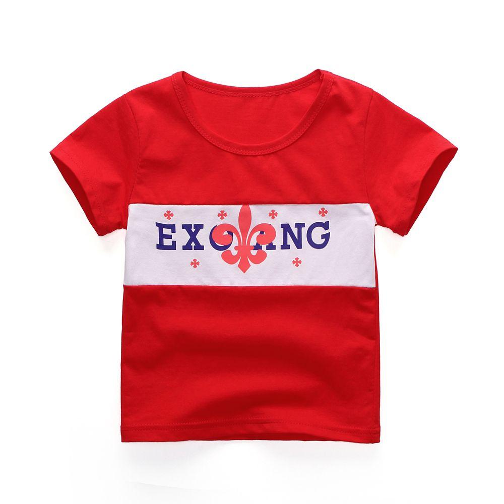 183b1305b New Short-sleeved T-shirt Children s Letters Pattern Fashion Boys ...