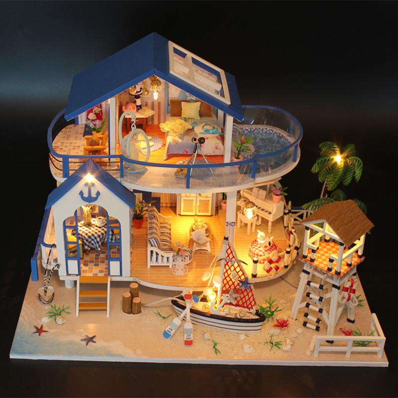 DIY Dollhouse With Doll House Furniture Toys For Children Sylvanian Families  House Legend Of Blue Sea Dollhouse Family Girl Gift Dolls House Family Big  Doll ...