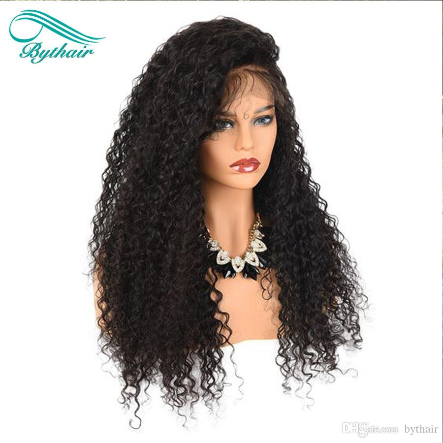 Bythair Deep Curly 360 Lace Frontal Wigs Lace Front Human Hair Wigs Pre Plucked With Baby Hair Remy Brazilian Full Lace Wig