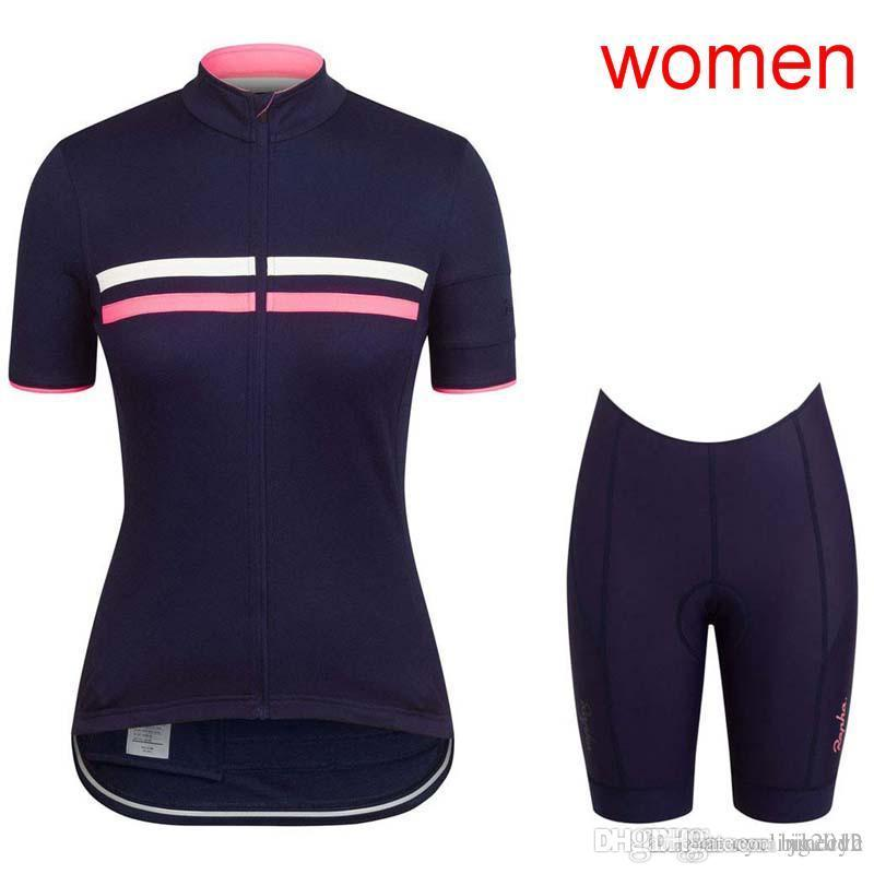 RAPHA SCOTT Team Cycling Short Sleeves Jersey Bib Shorts Sleeveless Vest  Sets 2018 Women Wear Comfortable Anti Pilling Hot New F0904 Cycle Jacket  Bib Short ... ed64ee0d2
