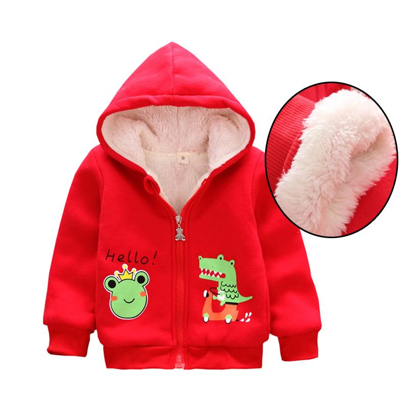d5b0d0a8b068 Korean Baby Girls Hoodies Velvet Coats Infant Jackets Kids Girls ...