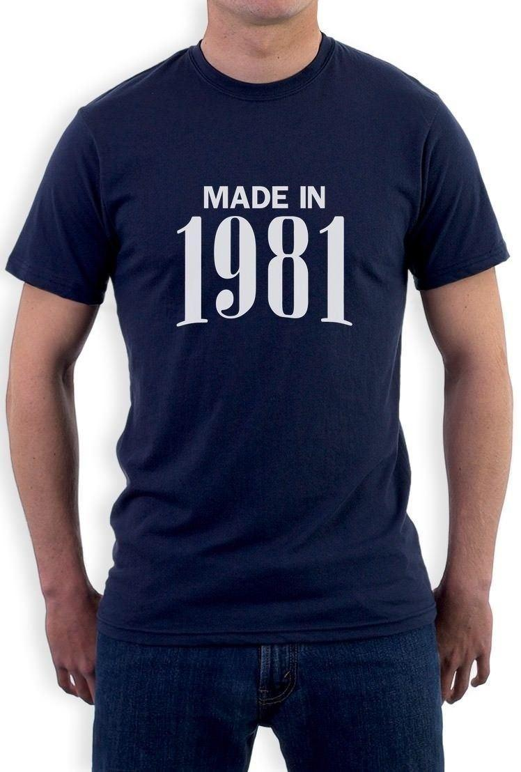 Made In 1981 Retro 36th Birthday Gift Idea Cool T Shirt 80S 90S Party Theme Band Shirts Designs From Amesion60 1208