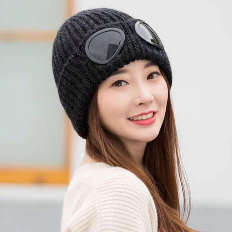 Super Cool Windproof Glasses Hats For Men Beanies Knitted Wool Bone Solid  Color Hip Hop Cap Winter Women S Hat Gorro Ski Cap Q4 Beany Wholesale Hats  From ... 25d0c18be97