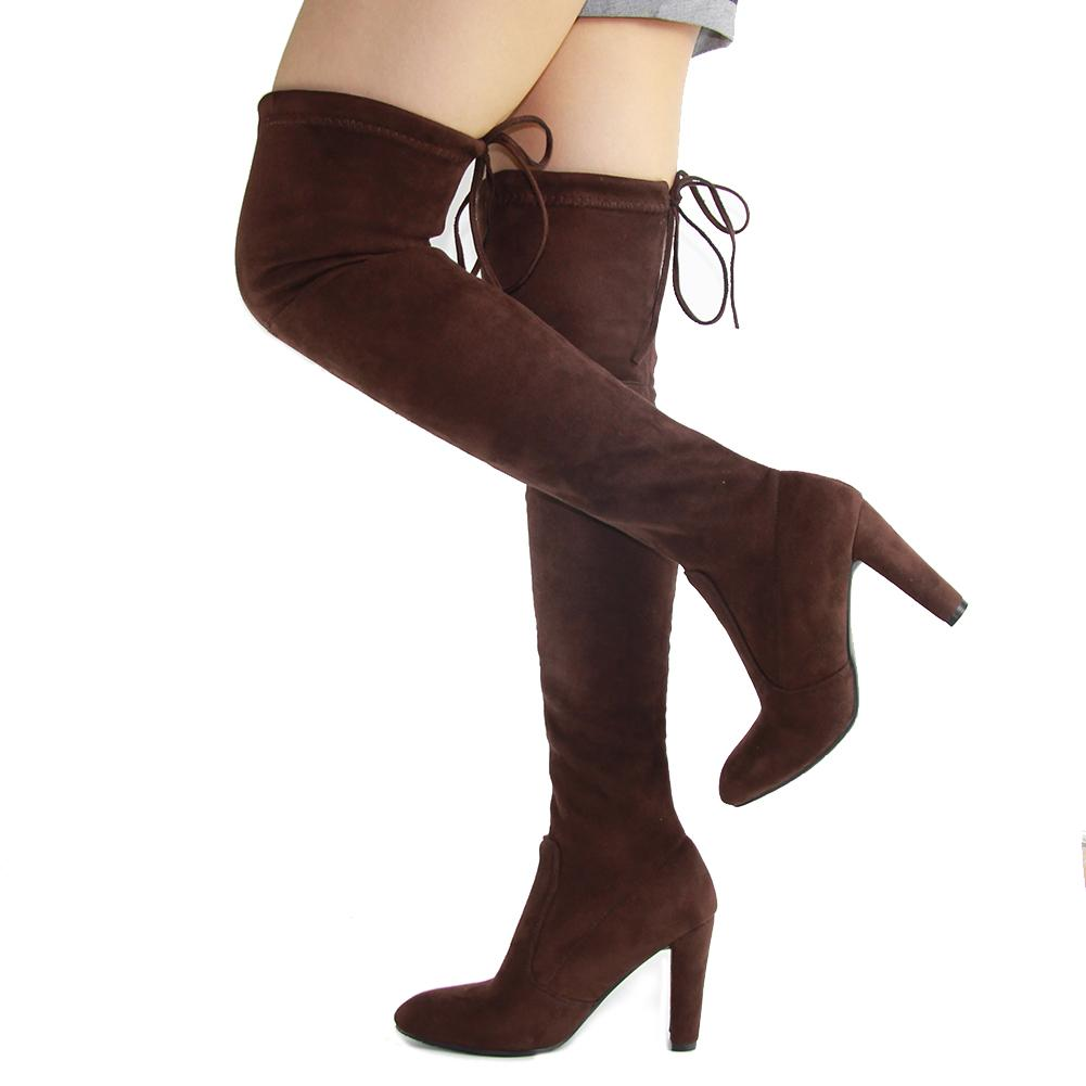 b257543e132d0 KarinLuna brand new women's shoes woman boots large sizes 33-46 autumn  winter over knee boots high heels sexy party women
