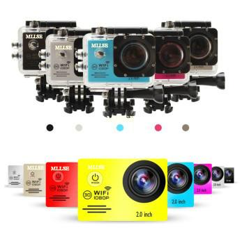 100% Original MLLSE go pro hero Sport Action Camera 2.0 LCD 30M Waterproof 1080P WiFi go pro Sport camera extreme Diving helmet