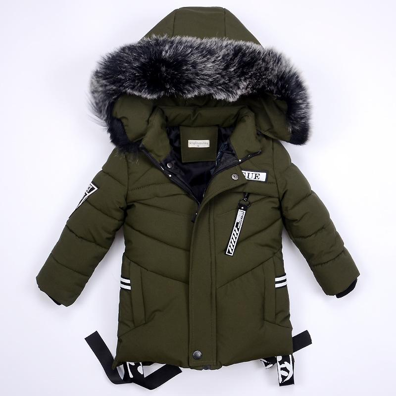 3bf0bf779 Kids Winter Jackets For Boys Warm Coat Boys Clothes Snowsuit ...