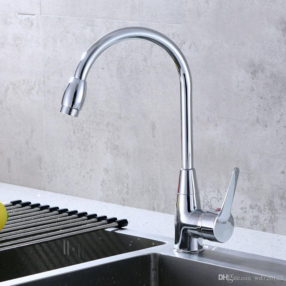 2018 Swivel Single Handle Kitchen Sink Faucet Bathroom Basin Mixer ...