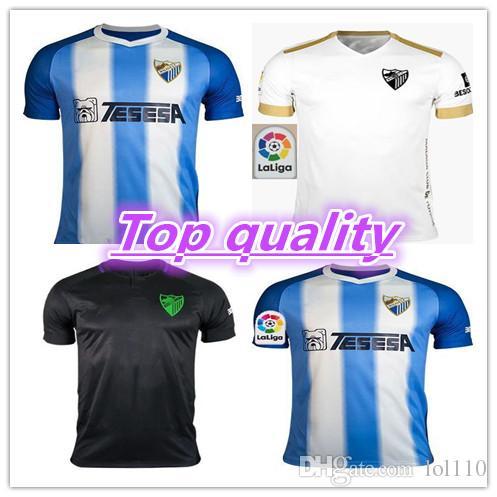 2de8d0eac1 Compre 2018 2019 Top Quality Malaga Camisas De Futebol Em Casa 18 19  ONTIVEROS GONZALEZ N DIAYE Camisas ANOR JUANKAR Jersey MALAGUISTA Uniforme  De Futebol ...