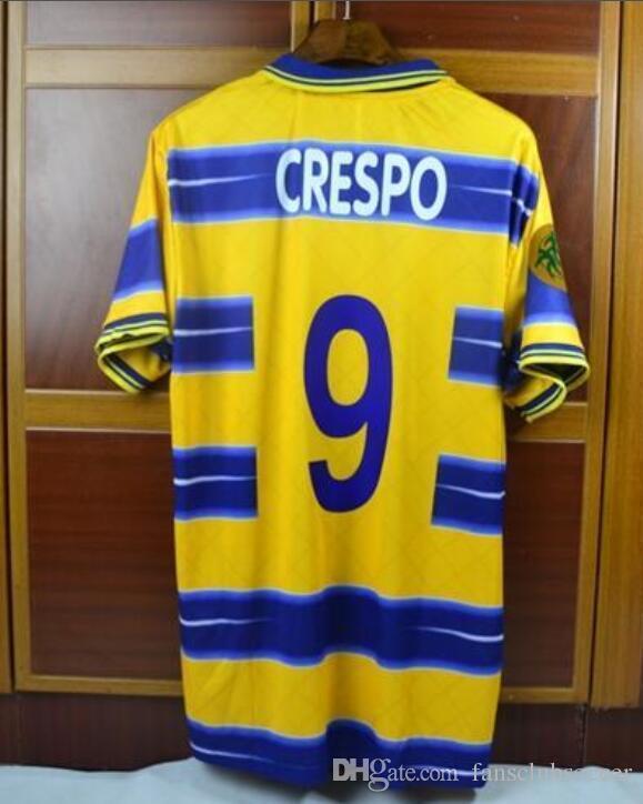 2019 Retro Soccer Jersey 1998 98 99 Parma Crespo Buffon Veron Thuram Fabio  Cannavaro Jersey From Fansclubsoccer de77d019c