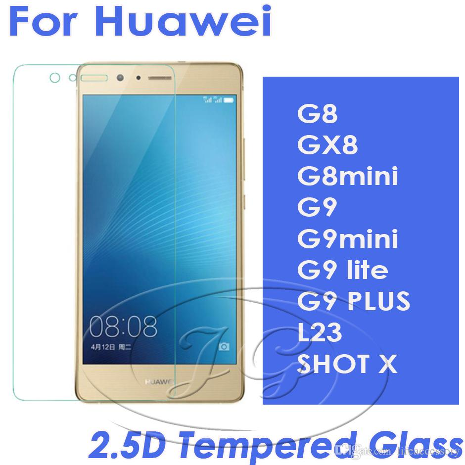 25d Tempered Glass Phone Screen Protector For Huawei G8 Gx8 G8mini G9 G9mini Lite Plus L23 Shot X Cell Non Glare