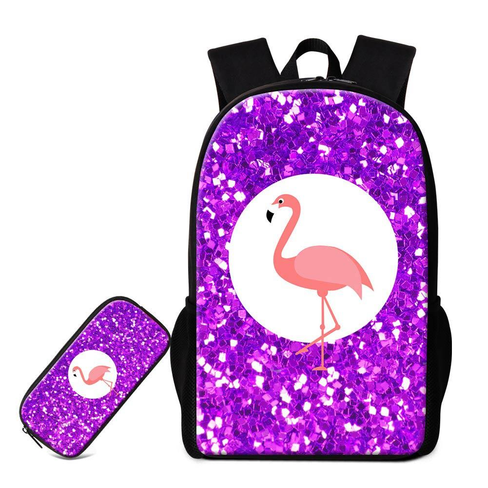 Set Backpack Pencil Bag For Elementary Students Custom Flamingo School Bags  Pen Box For Children Casual Daily Daypack Boy Girl Bagpack Girls Bags  Wheeled ... 0226d6d3ea270