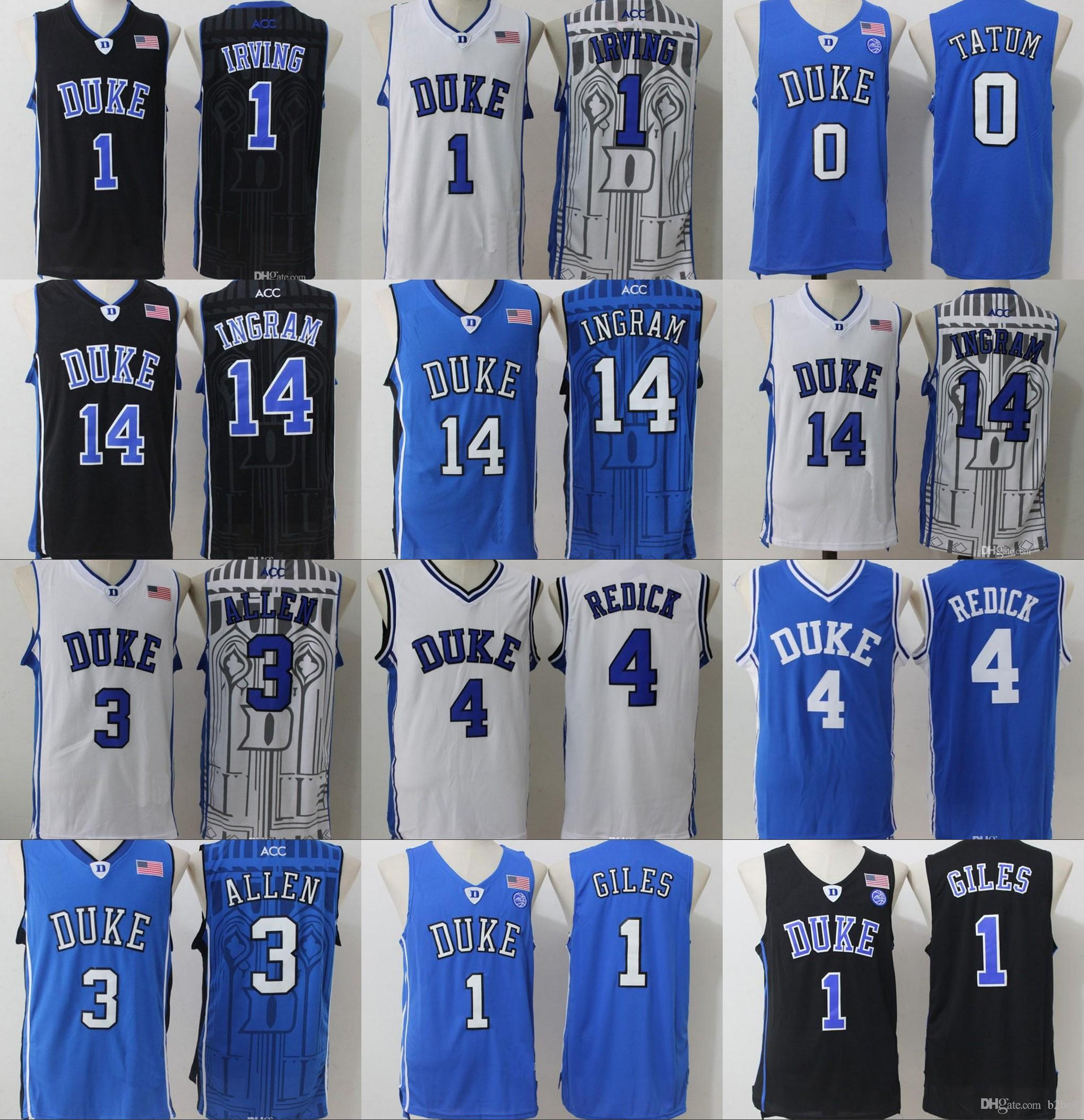 c92b7f66e ... reduced duke blue devils college jerseys 1 kyrie irving 1 harry giles 3  grayson allen 14