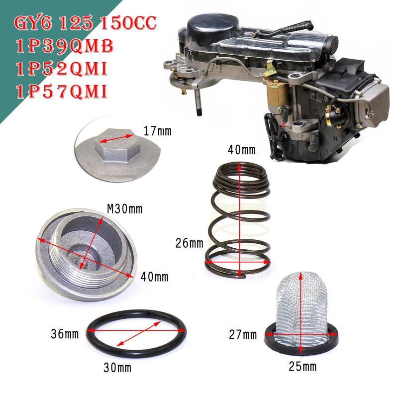 GY6 Motore Accessori 50cc a 150cc 125/150 Parti Motore Ciclomotore Tappo Filtro Olio Vite Scooter Baotian Benzhou Znen Taotao