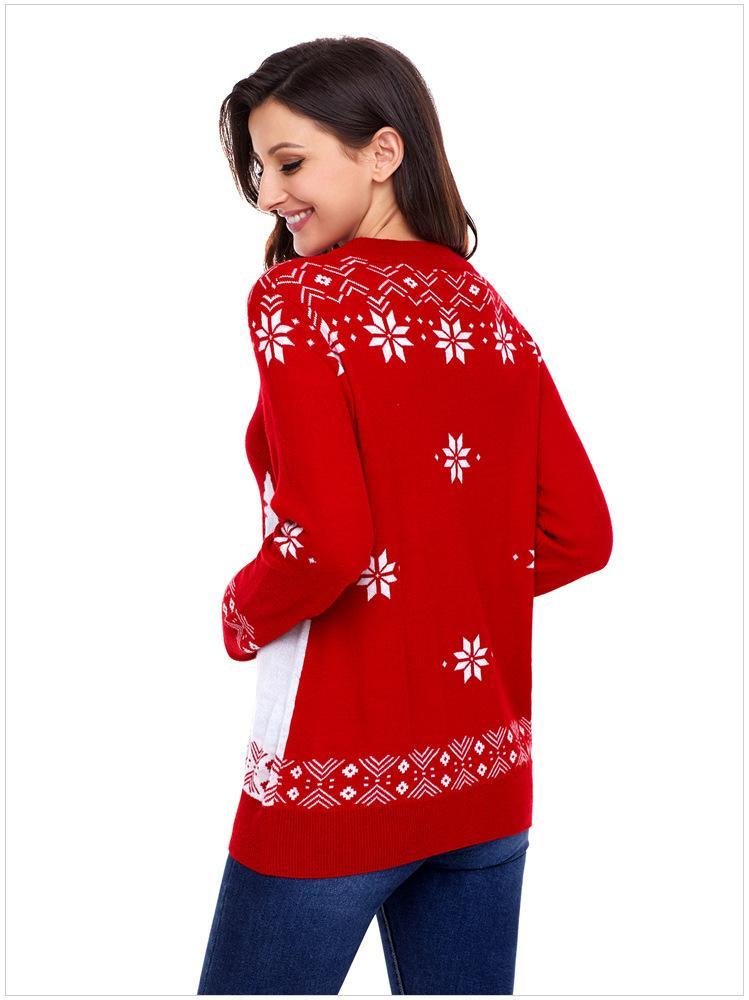 SHUJIN 2018 Mujeres Lady Jumper Suéter Lindo Ciervo Pullover Tops Abrigo Navidad Invierno Mujeres Damas Cálido Breves Suéteres Ropa