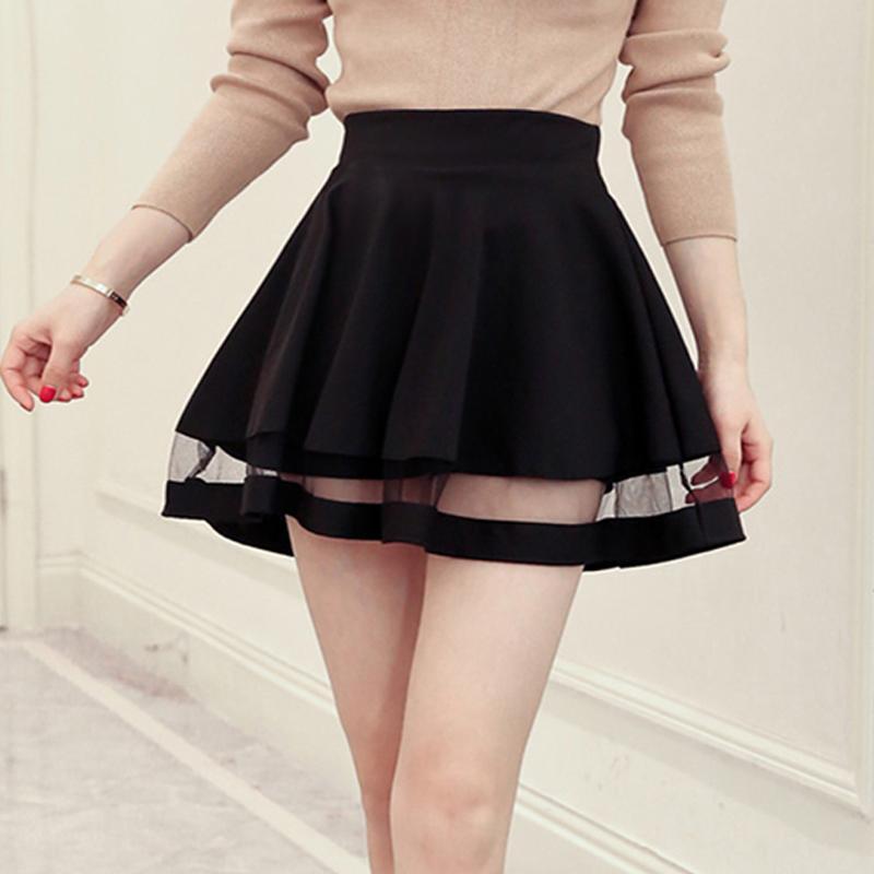 ed8f45b1c Compre Buena Calidad Diseño De Cuadrícula De Moda Falda Elástica Faldas De  Las Señoras Faldas De Las Señoras Midi Chicas Sexy Mini Faldas Plisadas  Saias ...