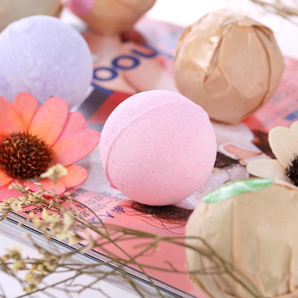 Natural Bath Bombs Bubble Bath Salts Ball Essential Oil Handmade SPA Stress Relief Exfoliating Mint Lavender Rose Flavor