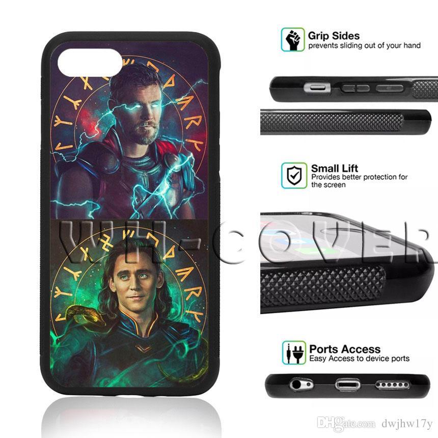 sports shoes 793c9 5ed73 Thor Loki Avengers Chris Thomas Avengers 4 3HRE Phone Case For iPhone iX  i5/6/7/8 Plus SE