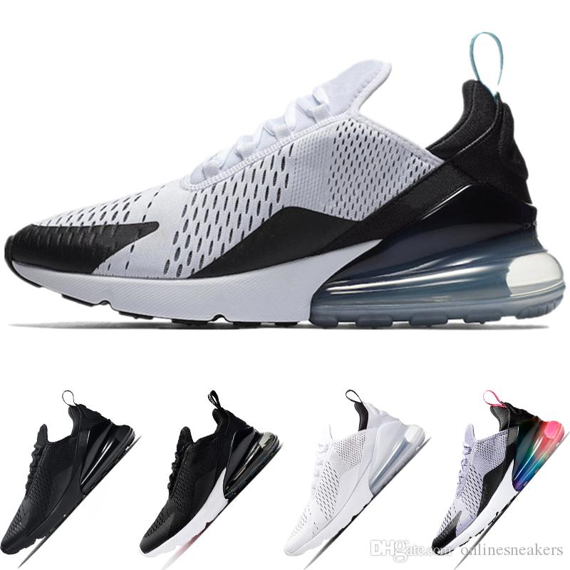 Nike Air Max 270 Airmax the details page for more Logo Economici 270 Running Shoes Mens Women ESSERE VERO Oreo Triple White Black OG Teal Men Athletic