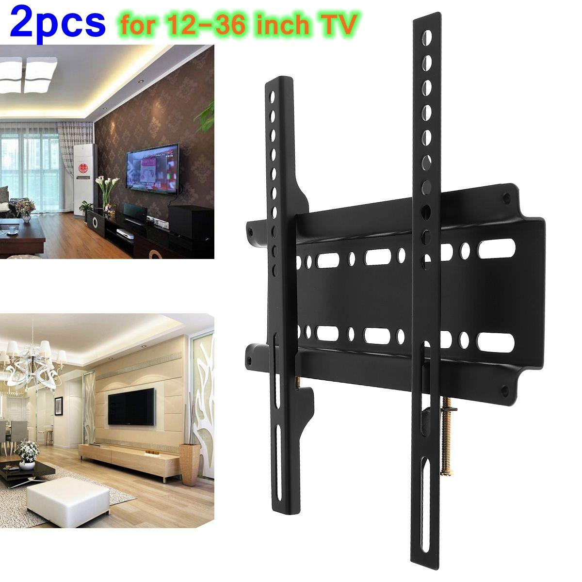 Universal Tv Wall Mount Bracket Fixed Flat Panel Tv Frame For 12 37 ...