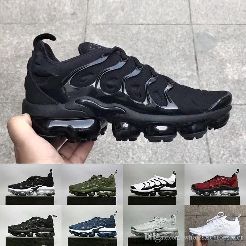 b57e8d63 Compre Nike Air Max Vapormax Plus Olive Hombres Deportes Casual Zapatos  Zapatillas Hombres Run Metálico Blanco Plata Colorways TN Male Shoe Pack  Triple ...