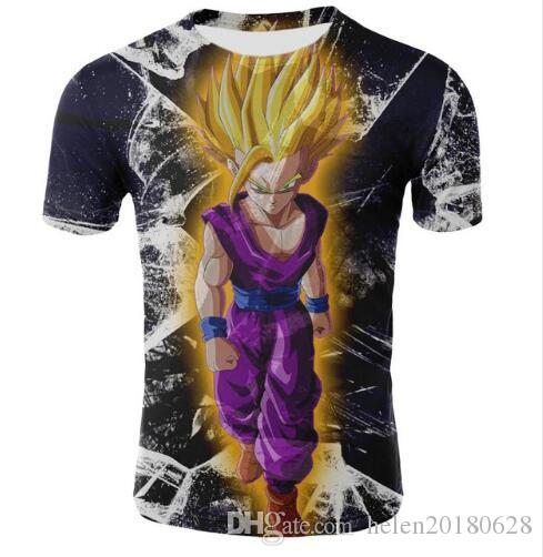 c6b07210f01ab Newest 3D Print Dragon Ball Z Goku T Shirts Summer Short Sleeve Tees Quick  Dry Sweats Tops Fashion Tracksuit T Shirt Breathable Clothing Best Deal On T  ...