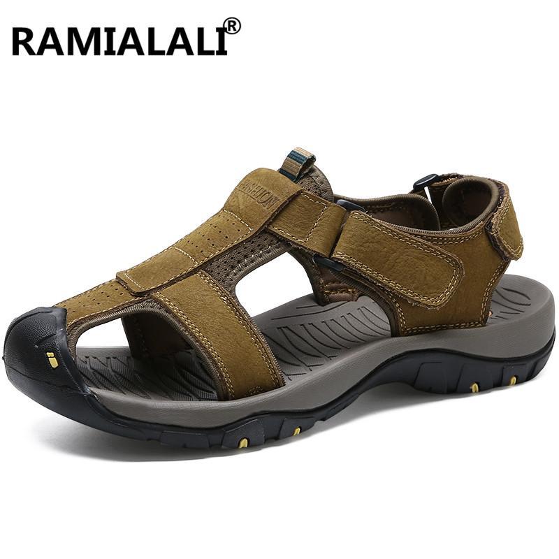 Sandalias De Playa La Cuero Hombres Marca Genuino Antideslizantes Zapatos Del Los Verano XOkZiTPu
