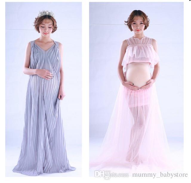 2018 New Maternity Dress Maternity Photography Props Sleeveless