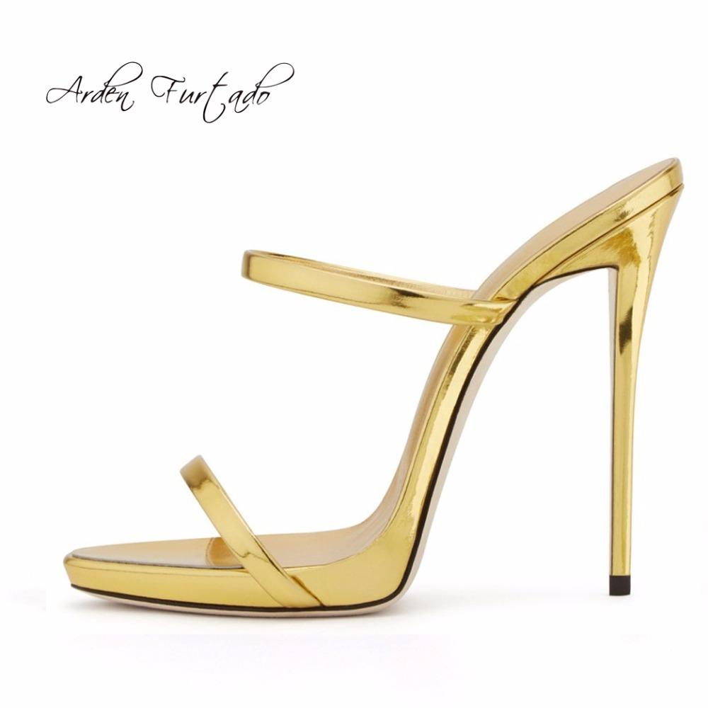 Arden Furtado New 2017 Summer Platform Extreme High Heels Stiletto Gold  Silver Slippers Fashion Shoes For Woman Slides Plus Size Riding Boots  Hiking Boots ... ceae789040e7
