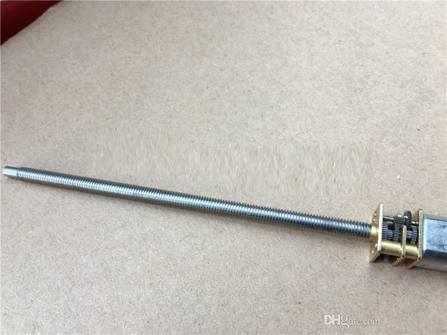 N20 M4 * 100mm 그레이트 나사 기어 모터 마이크로 스레드 모터 DIY 소형 DC 모터 100mm 길이 샤프트