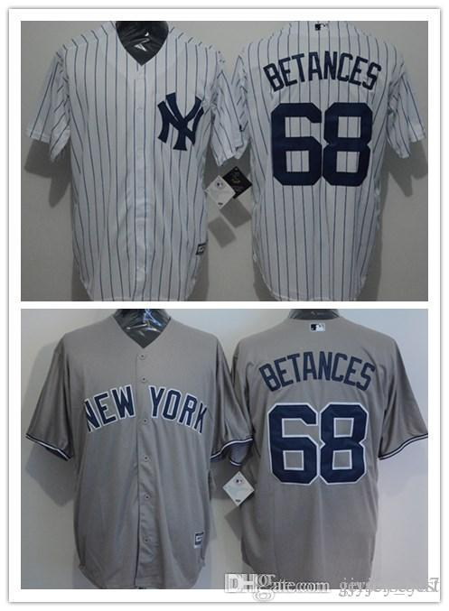 c3efb2ee6ce2 CUSTOM New York Yankees 68 Dellin Betances Hombres Mujeres Juventud  Personalizada Majestic Stretched Baseball Jerseys Nombre personal Número de  ...
