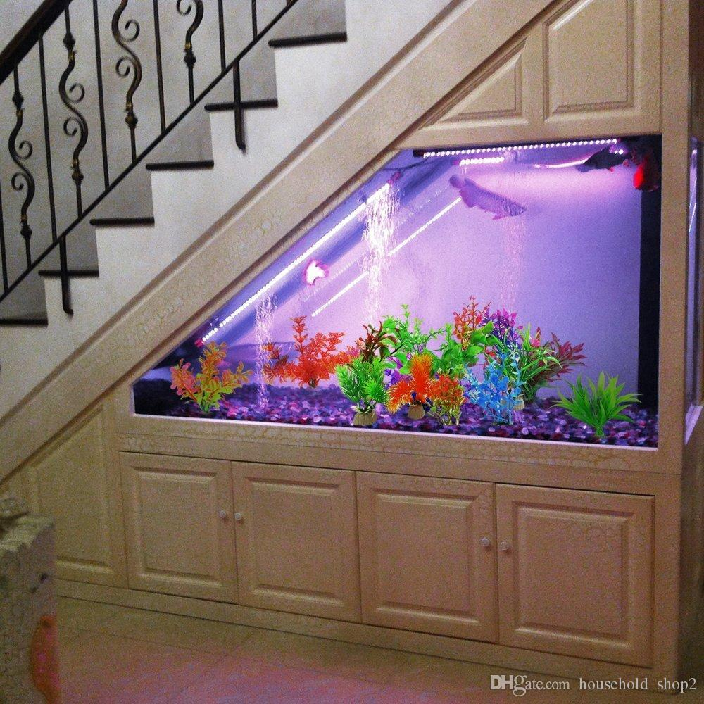 Piante acquatiche artificiali, dimensioni piccole da 4 a 4,5 pollici Altezza approssimativa Comsun Fish Tank Decorazioni Home Decor in plastica 32 stile