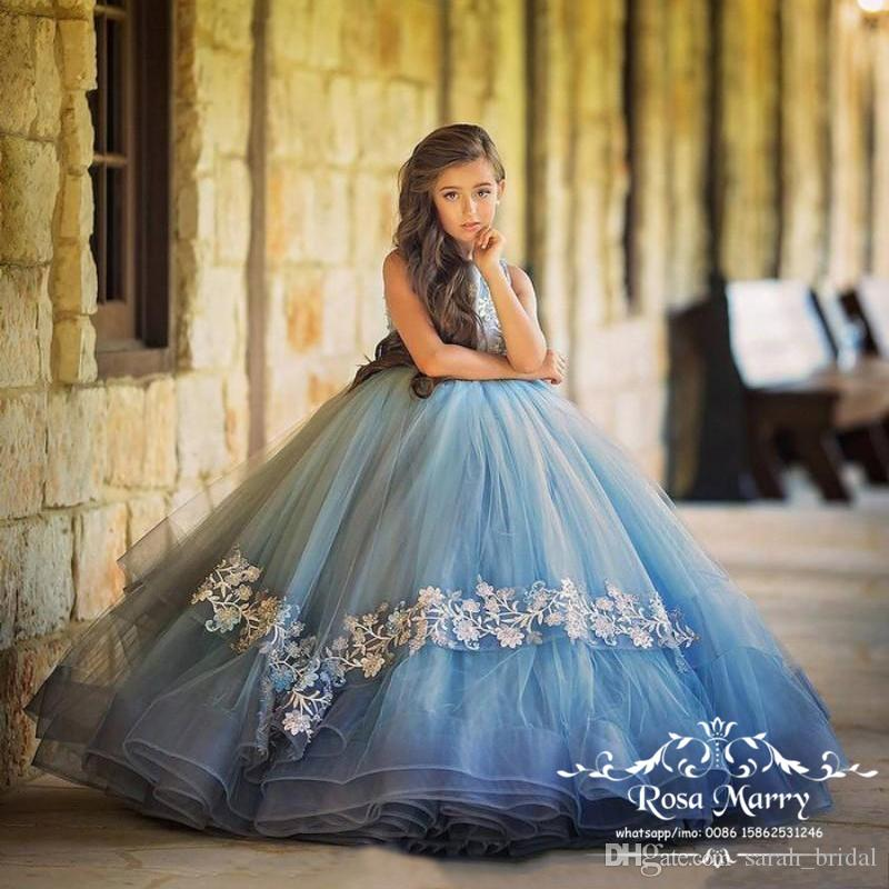 Lovely Cinderella Ball Gown Girls Pageant Dresses 2020