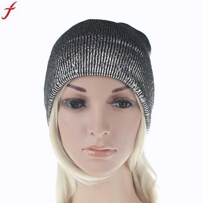 f7ec364eb58 Winter Knitting Warm Hats 2017 Fashion Women Men Winter Warm Knit ...