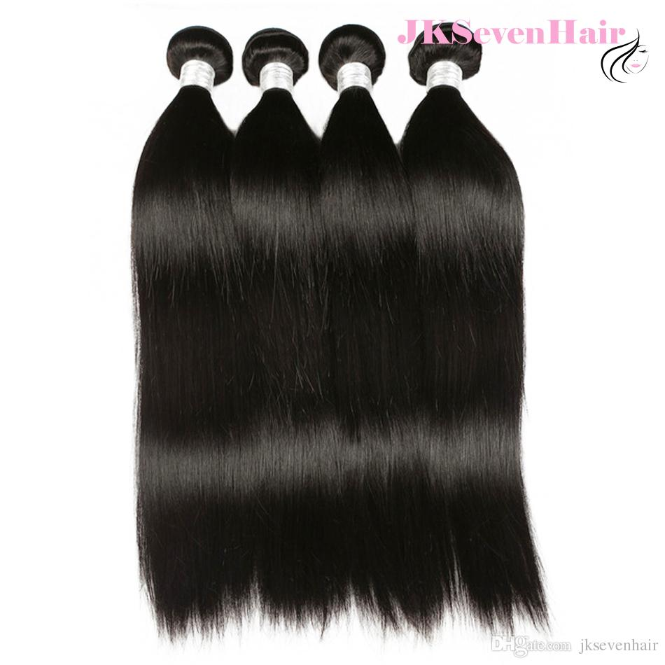 10A Remy Straight Brazilian Human Hair 3 Bundles Deal Peruvian Indian Malaysian Machine Weft Extension Factory Price