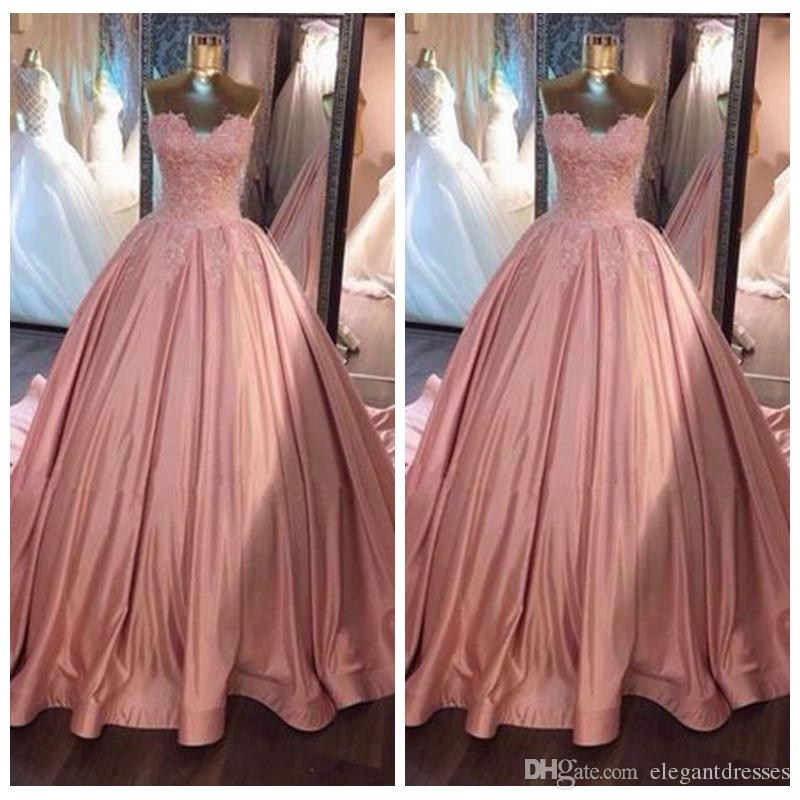 Sexy Sweetheart Ball Gown Prom Dresses Lace Top Formal Ladies Garden