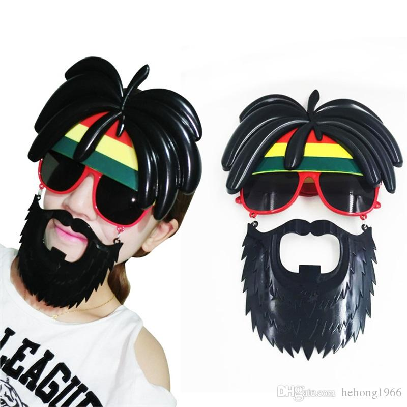 Beard Glasses Coconut Tree Hair Party Photograph Prop Funny Spectacles Mask Birthday Halloween Moustache Gift Creative 9 8sf V