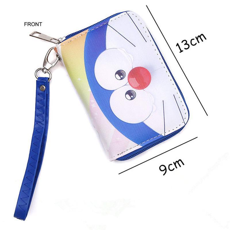 Kawaii Japanese Cartoon Wallet Handbag With Coin Pocket and Chain Doraemon/Totoro/Himouto! Umaru-chan Lady Girl's Anime Wallets