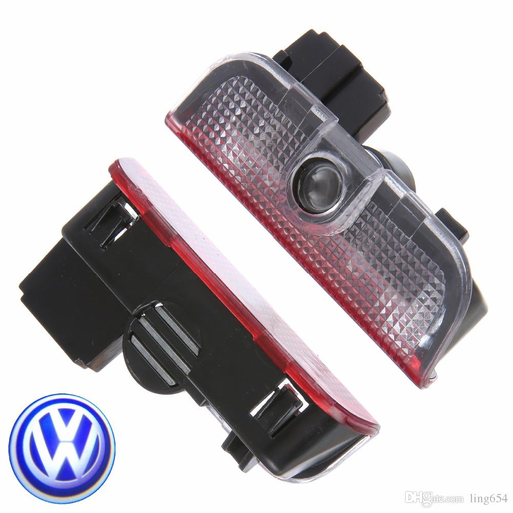 Door Door Welcome Laser Projector Logo Door Ghost Shadow Luz LED para VW Volkswagen Tiguan Golf 5 6 7 Passat B7 EOS ETC
