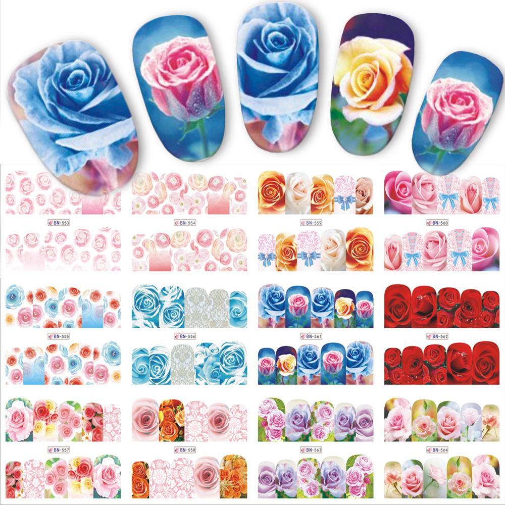 High Quality Nail 48 Designs Nails Sets Fashion Summer Flower ...