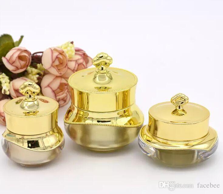 5G Couronne Forme Crème Pot 5 Couleurs Rechargeable 5 ML Cosmétique Voyage Taille Visage Crème Bouteille Lotion Vide Pot Contenant